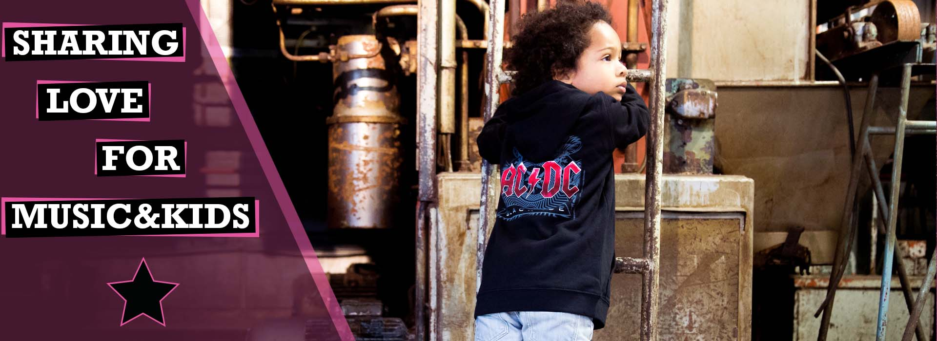 Metal kids clothes